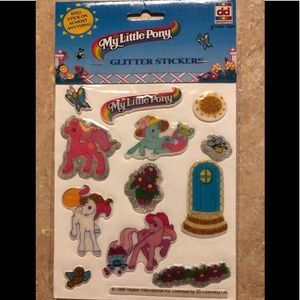 Vintage My Little Pony Glitter Puffy Stickers Rare